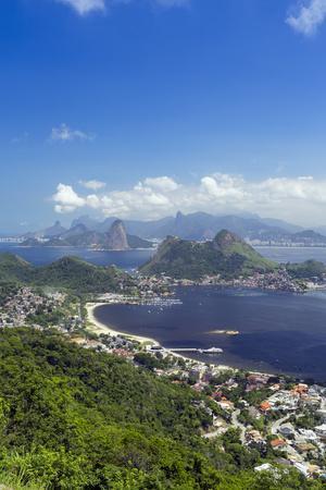 Rio De Janeiro from Niteroi, Rio De Janeiro, Brazil, South America-Alex Robinson-Framed Photographic Print