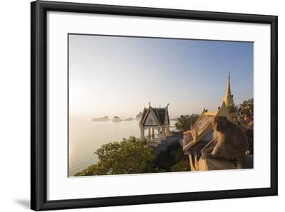 Wat Thammikaram Worawihan Temple, Khao Chong Krajok, Prachuap Kiri Khan, Thailand, Southeast Asia-Christian Kober-Framed Photographic Print