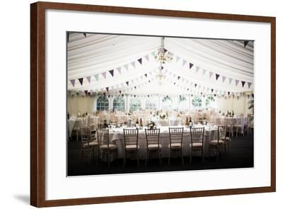 Wedding Marquee, United Kingdom, Europe-John Alexander-Framed Photographic Print