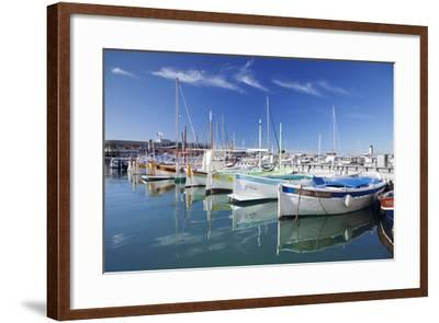 Fishing Boats at the Harbour, France-Markus Lange-Framed Photographic Print