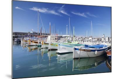 Fishing Boats at the Harbour, France-Markus Lange-Mounted Photographic Print