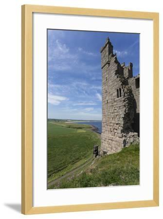 Ruins of Dunstanburgh Castle, Overlooking Fields and Embleton Bay, Northumberland, England, U.K.-Eleanor Scriven-Framed Photographic Print