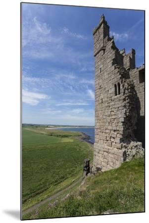 Ruins of Dunstanburgh Castle, Overlooking Fields and Embleton Bay, Northumberland, England, U.K.-Eleanor Scriven-Mounted Photographic Print