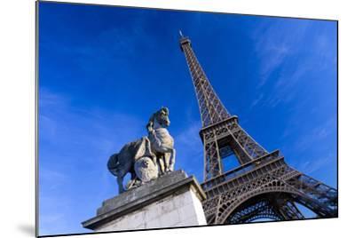 Horse Sculpture on Lena Bridge Near to Eiffel Tower in Paris, France, Europe-Peter Barritt-Mounted Photographic Print