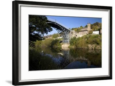 Worlds First Iron Bridge Spans the Banks of the River Severn, Shropshire, England-Peter Barritt-Framed Photographic Print