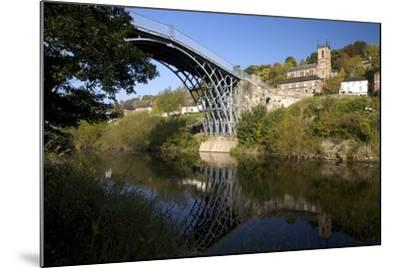 Worlds First Iron Bridge Spans the Banks of the River Severn, Shropshire, England-Peter Barritt-Mounted Photographic Print