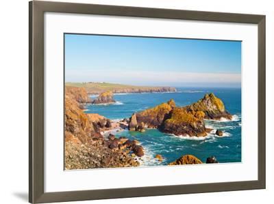 Kynance Cove, Lizard, Cornwall, England, United Kingdom, Europe-Kav Dadfar-Framed Photographic Print