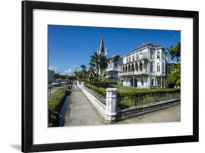 Colonial Building in Georgetown, Guyana, South America-Michael Runkel-Framed Photographic Print