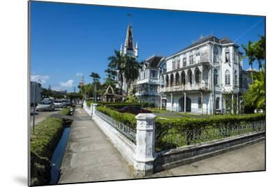 Colonial Building in Georgetown, Guyana, South America-Michael Runkel-Mounted Photographic Print