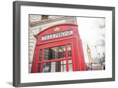 Red Telephone Box and Big Ben (Elizabeth Tower), Houses of Parliament, Westminster, London, England-Matthew Williams-Ellis-Framed Photographic Print