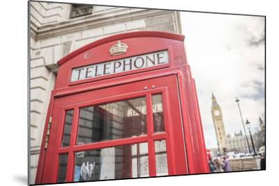 Red Telephone Box and Big Ben (Elizabeth Tower), Houses of Parliament, Westminster, London, England-Matthew Williams-Ellis-Mounted Photographic Print