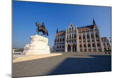 The Hungarian Parliament Building and Statue of Gyula Andressy, Budapest, Hungary, Europe-Carlo Morucchio-Mounted Photographic Print