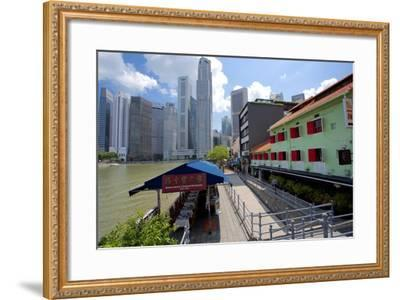 Boat Quay, Singapore, Southeast Asia-Frank Fell-Framed Photographic Print