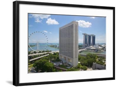 Singapore Flyer from South Beach, Singapore, Southeast Asia-Frank Fell-Framed Photographic Print