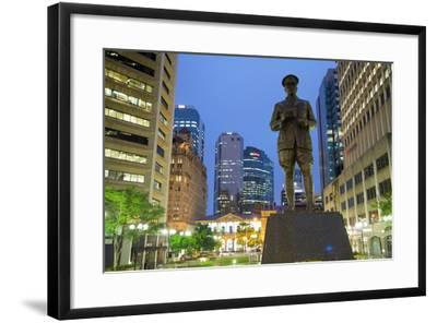 Sir William Glasgow Statue on Post Office Square, Brisbane, Queensland, Australia, Oceania-Frank Fell-Framed Photographic Print