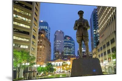 Sir William Glasgow Statue on Post Office Square, Brisbane, Queensland, Australia, Oceania-Frank Fell-Mounted Photographic Print