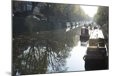 Canal Boats on the Regent's Canal, Little Venice, London, England, United Kingdom, Europe-Ethel Davies-Mounted Photographic Print