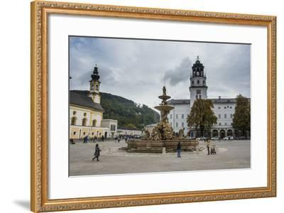 Residence Square in the Historic Heart of Salzburg, Austria, Europe-Michael Runkel-Framed Photographic Print