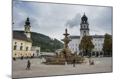 Residence Square in the Historic Heart of Salzburg, Austria, Europe-Michael Runkel-Mounted Photographic Print