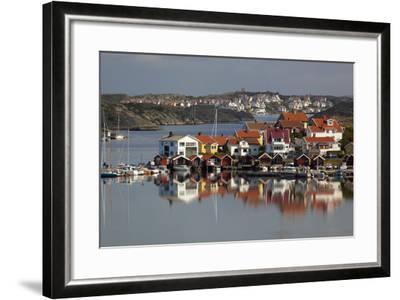 View over Harbour and Houses, Stocken, Orust, Bohuslan Coast, Southwest Sweden, Sweden, Europe-Stuart Black-Framed Photographic Print