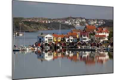 View over Harbour and Houses, Stocken, Orust, Bohuslan Coast, Southwest Sweden, Sweden, Europe-Stuart Black-Mounted Photographic Print