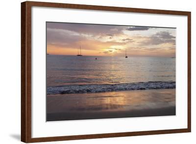Sunset at Playa De Las Vistas Beach, Los Cristianos, Canary Islands-Markus Lange-Framed Photographic Print