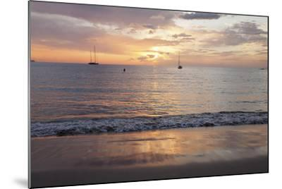 Sunset at Playa De Las Vistas Beach, Los Cristianos, Canary Islands-Markus Lange-Mounted Photographic Print
