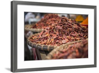 Dried Red Chillies for Sale at Pyin Oo Lwin (Pyin U Lwin) Market, Myanmar (Burma), Asia-Matthew Williams-Ellis-Framed Photographic Print