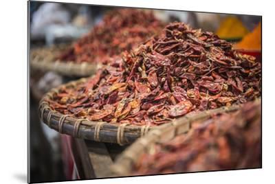 Dried Red Chillies for Sale at Pyin Oo Lwin (Pyin U Lwin) Market, Myanmar (Burma), Asia-Matthew Williams-Ellis-Mounted Photographic Print