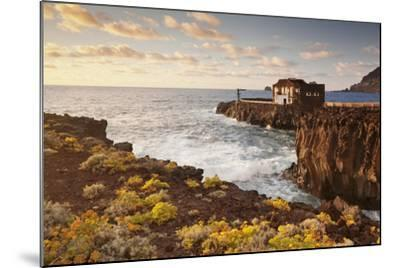 Hotel Punta Grande at Sunset, Las Puntas, El Golfo, Lava Coast, Canary Islands, Spain-Markus Lange-Mounted Photographic Print