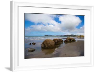 Moeraki Boulders, Koekohe Beach, Otago, South Island, New Zealand, Pacific-Suzan Moore-Framed Photographic Print