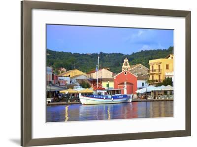 Gaios Harbour, Paxos, the Ionian Islands, Greek Islands, Greece, Europe-Neil Farrin-Framed Photographic Print