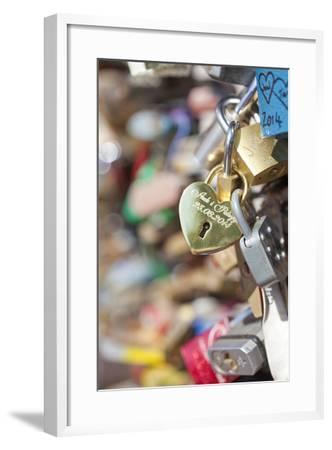 Czech Republic, Prague - Abundance of Love Padlocks on Railings--Framed Photographic Print