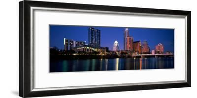 Skyscrapers at the Waterfront, Lady Bird Lake, Austin, Texas, Usa--Framed Photographic Print