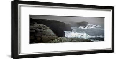 Storms Raging over Yesnaby Coastline, Orkney Islands, Scotland--Framed Photographic Print