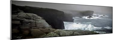 Storms Raging over Yesnaby Coastline, Orkney Islands, Scotland--Mounted Photographic Print