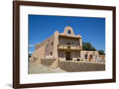 Pueblo Mission, San Ildefonso Pueblo, Pueblo Dates to 1300 Ad, New Mexico, United States of America-Richard Maschmeyer-Framed Photographic Print