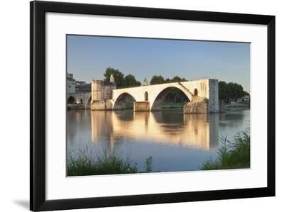 Bridge St. Benezet over Rhone River, Provence-Alpes-Cote D'Azur-Markus Lange-Framed Photographic Print
