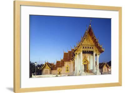 Wat Benchamabophit (The Marble Temple), Bangkok, Thailand, Southeast Asia, Asia-Christian Kober-Framed Photographic Print