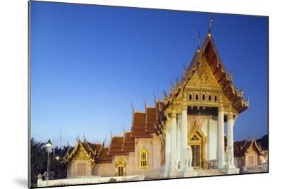 Wat Benchamabophit (The Marble Temple), Bangkok, Thailand, Southeast Asia, Asia-Christian Kober-Mounted Photographic Print