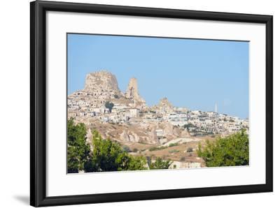 Rock-Cut Topography at Uchisar, Cappadocia, Anatolia, Turkey, Asia Minor-Christian Kober-Framed Photographic Print