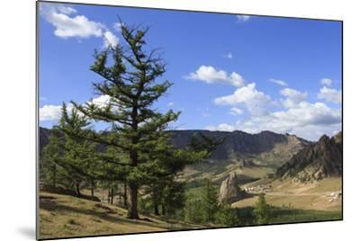 Elevated View Towards Turtle Rock and Distant Mountains, Mongolia-Eleanor Scriven-Mounted Photographic Print