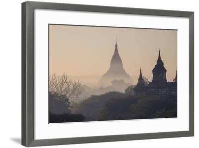 Buddhist Temples, Bagan (Pagan), Myanmar (Burma), Asia-Nathalie Cuvelier-Framed Photographic Print