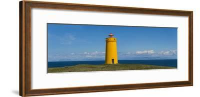 Lighthouse on the Coast, Holmbergsviti Lighthouse, Keflavik, Iceland--Framed Photographic Print