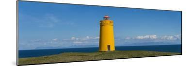 Lighthouse on the Coast, Holmbergsviti Lighthouse, Keflavik, Iceland--Mounted Photographic Print