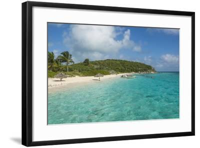 Turquoise Waters and a White Sand Beach, Exumas, Bahamas, West Indies, Caribbean, Central America-Michael Runkel-Framed Photographic Print