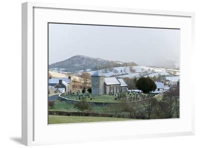 St. David's Church, Llanddewi'R Cwm, Powys, Wales, United Kingdom, Europe-Graham Lawrence-Framed Photographic Print