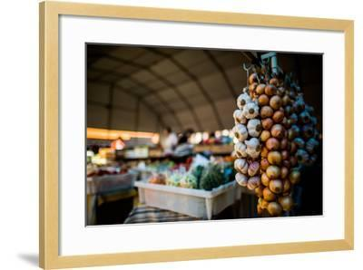 Garlic and Onions at Market, Portugal, Europe-John Alexander-Framed Photographic Print
