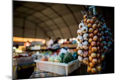 Garlic and Onions at Market, Portugal, Europe-John Alexander-Mounted Photographic Print