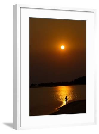 Sunset over the Tapajos River, Amazon, Alter Do Chao, Para, Brazil, South America-Alex Robinson-Framed Photographic Print